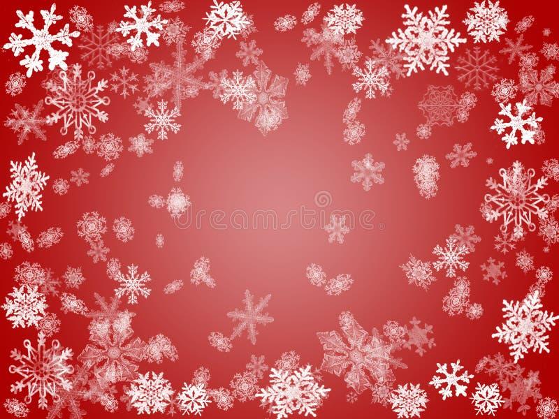 Inverno 2 nel colore rosso illustrazione vettoriale