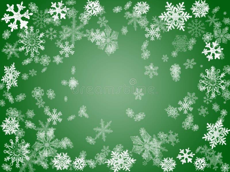 Inverno 2 nel verde illustrazione di stock
