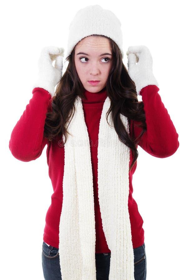 Inverno adolescente imagens de stock