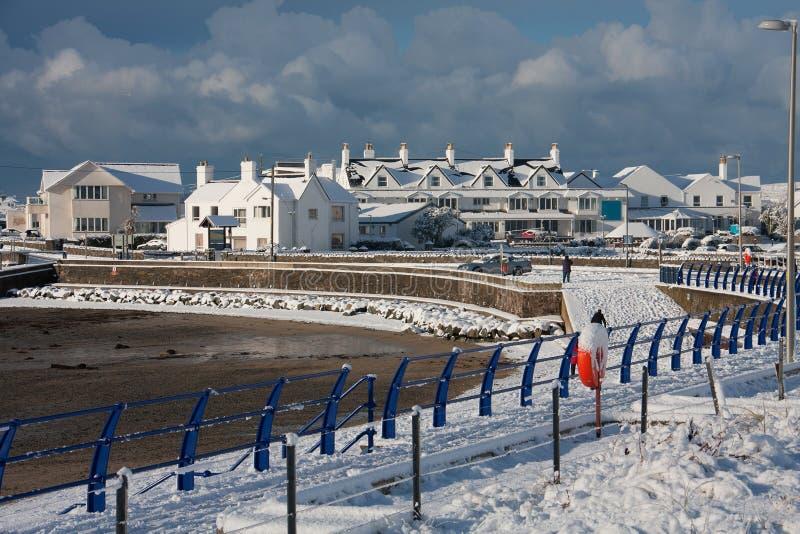 Inverno alla baia di Trearddur immagini stock libere da diritti