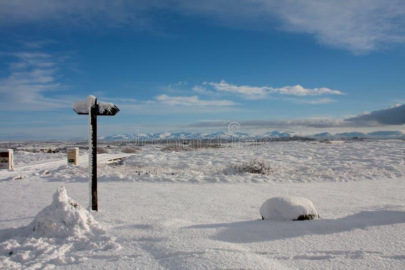 Inverno alla baia di Trearddur fotografie stock