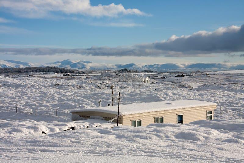 Inverno alla baia di Trearddur immagini stock