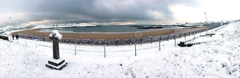 Inverno alla baia di Trearddur immagine stock