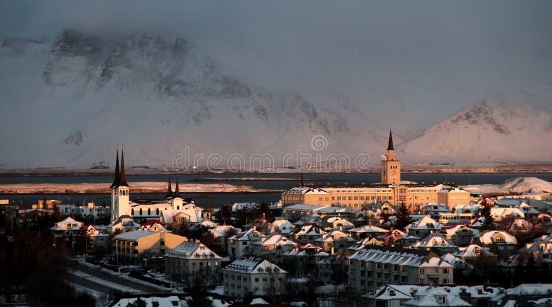 Inverno artico Sun fotografia stock