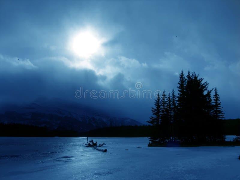 Inverno in azzurro fotografia stock