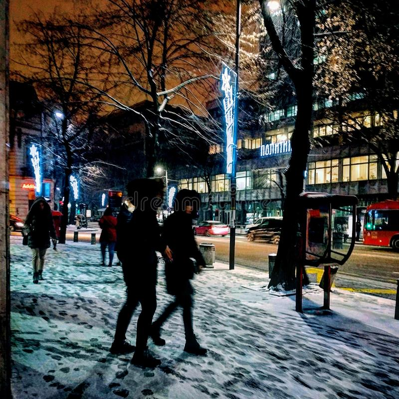 Inverno a Belgrado fotografia stock libera da diritti