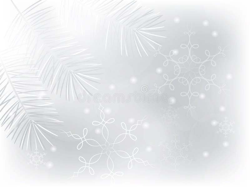 Inverno bianco illustrazione di stock