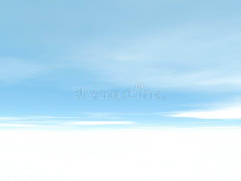 Inverno bianco illustrazione vettoriale