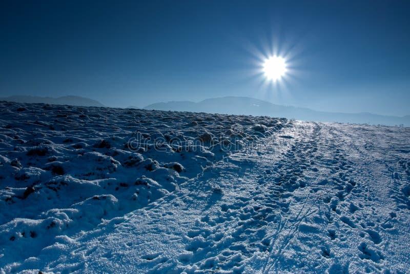 Inverno blu fotografie stock