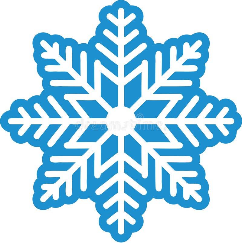 inverno bonito do floco de neve ilustração stock