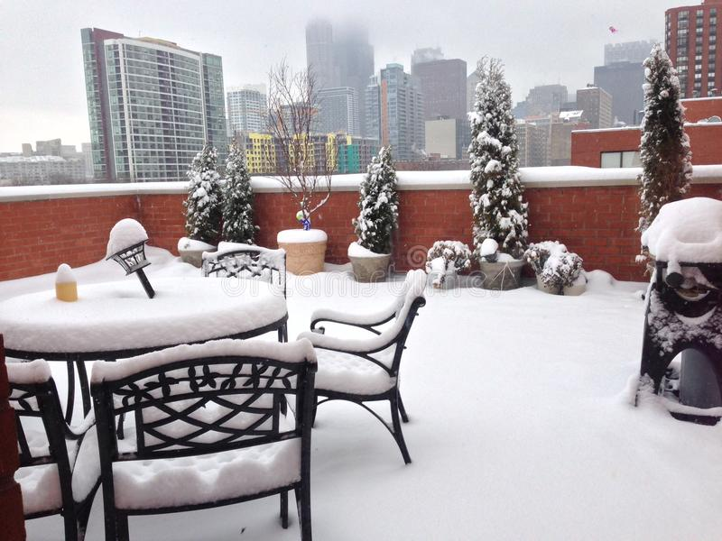 Inverno in Chicago immagine stock libera da diritti