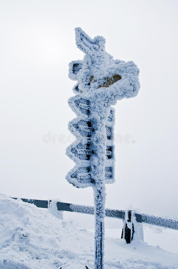 Inverno congelado do sinal imagem de stock royalty free