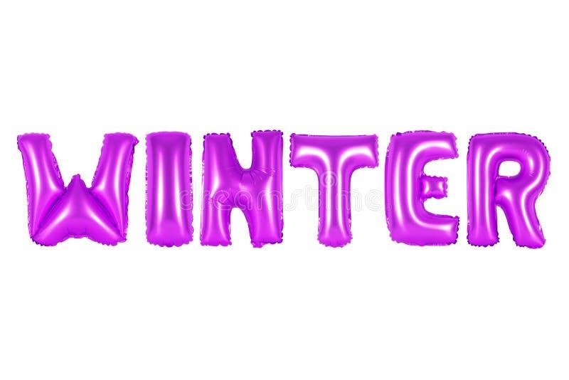 inverno, cor roxa imagem de stock