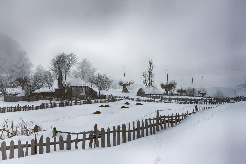 inverno da mansão fotos de stock royalty free