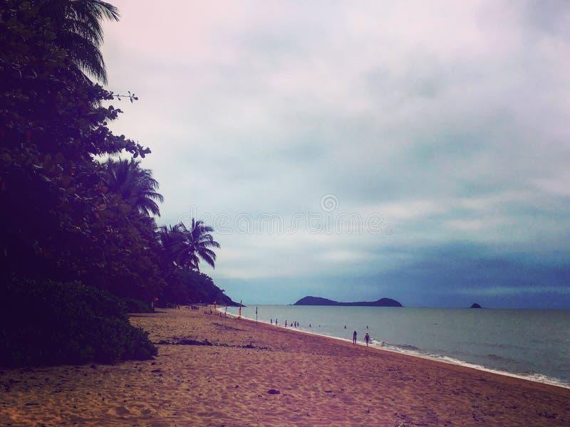 Inverno dalla spiaggia fotografie stock libere da diritti
