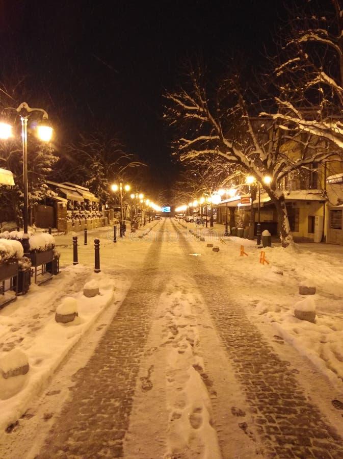 inverno de Skopje foto de stock royalty free