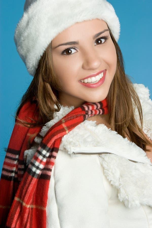Inverno de sorriso adolescente fotos de stock royalty free