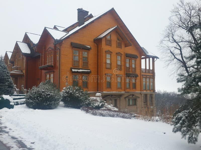 inverno de Ucrânia do palácio de Honka imagens de stock
