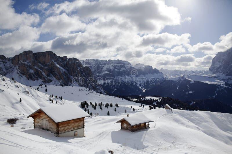 inverno de Valgardena fotos de stock royalty free
