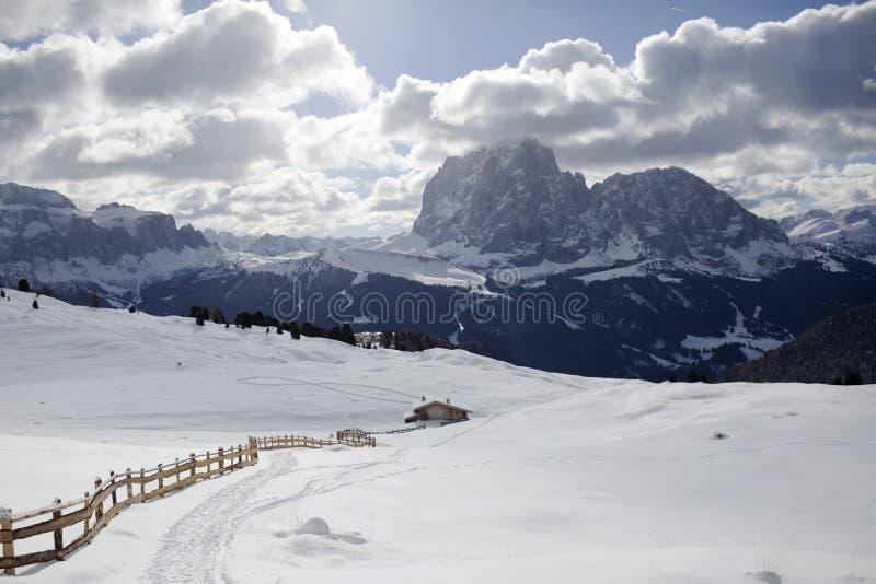 inverno de Valgardena imagem de stock