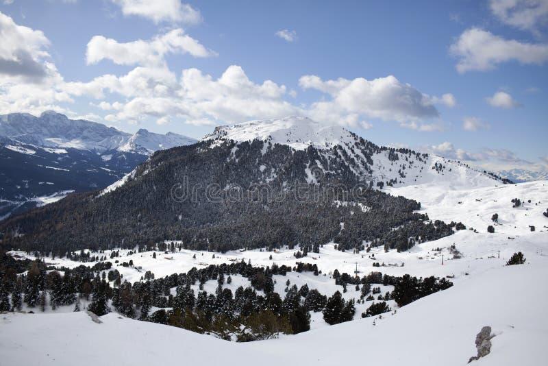 inverno de Valgardena fotografia de stock royalty free