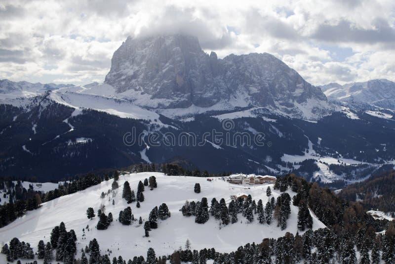 inverno de Valgardena fotos de stock