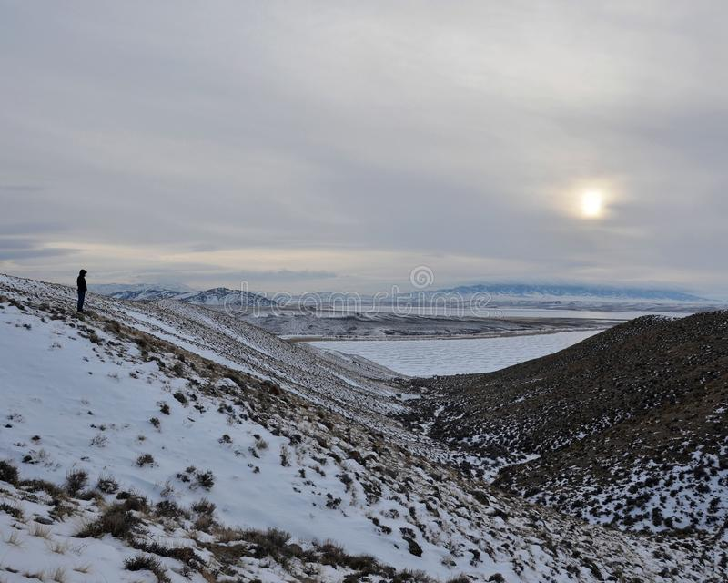 Inverno de Wyoming fotos de stock