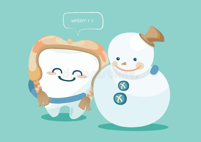 Inverno del dente royalty illustrazione gratis
