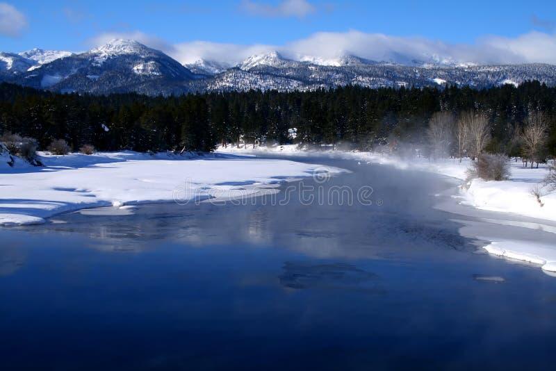 Inverno del North Fork fotografia stock libera da diritti