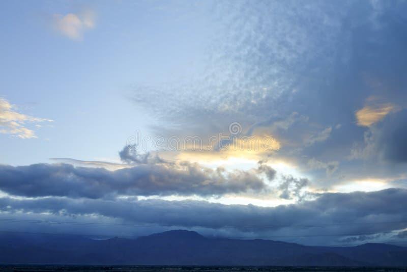 Inverno del sud del deserto del Mojave, CA fotografia stock libera da diritti