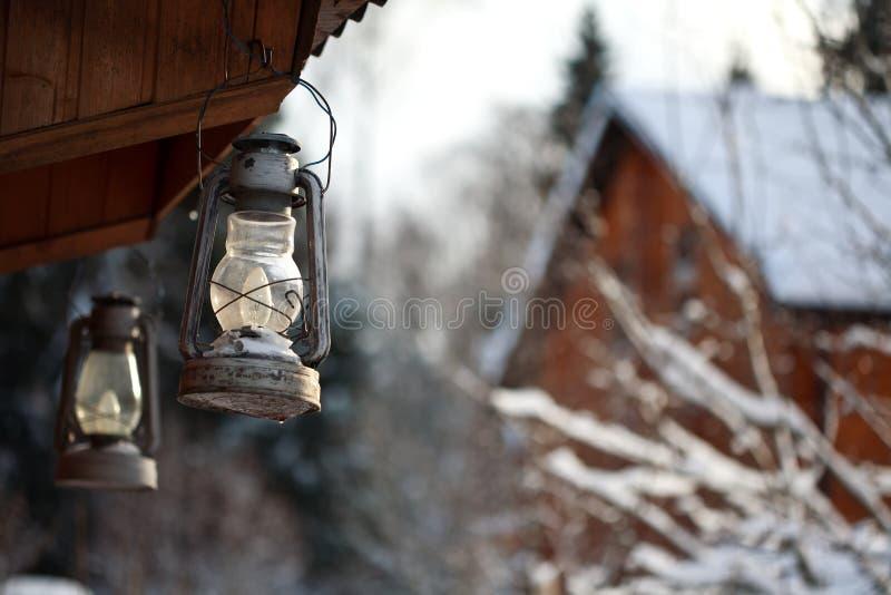 Inverno della lanterna fotografia stock