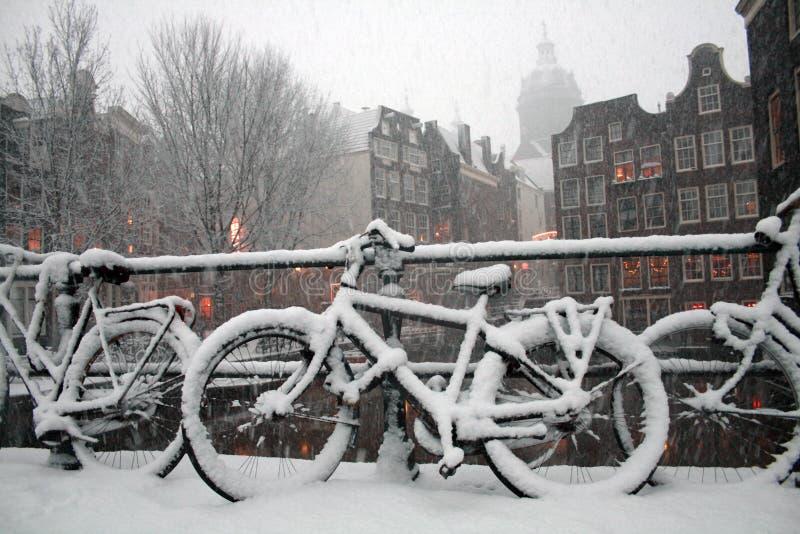 Inverno di Amsterdam fotografia stock libera da diritti