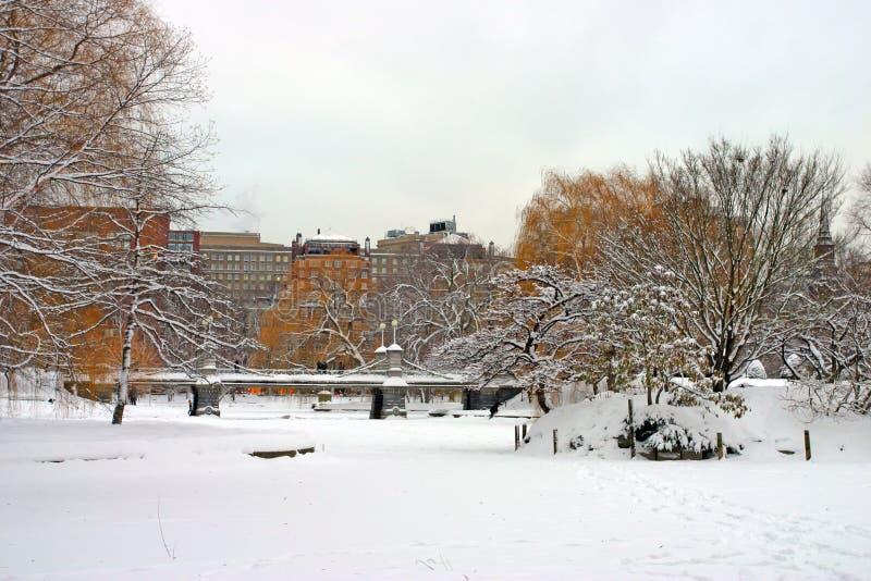Inverno di Boston fotografia stock