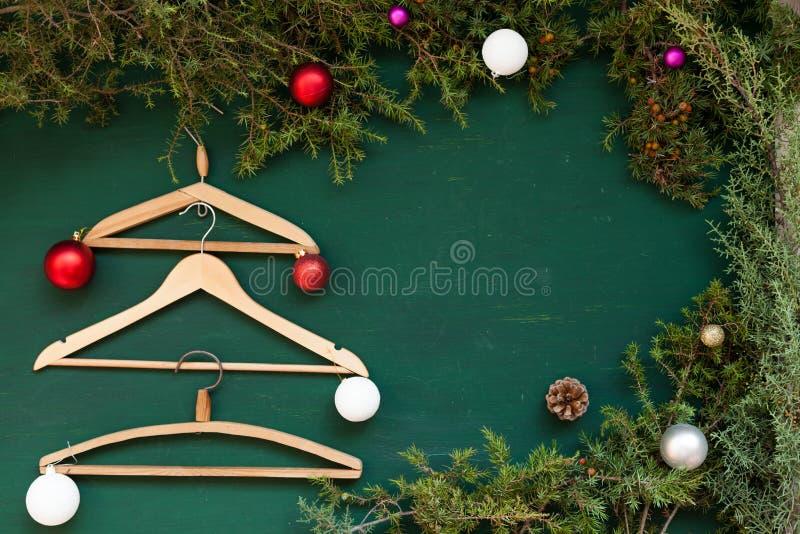 Inverno di festa della decorazione della decorazione dei regali del nuovo anno dell'albero di Natale del fondo di Natale fotografia stock