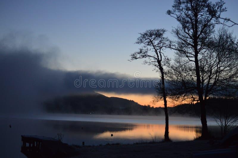Inverno di Kinlochard Scozia fotografie stock