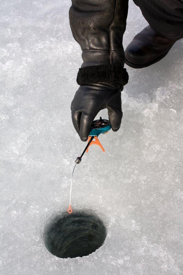 Inverno di pesca fotografie stock