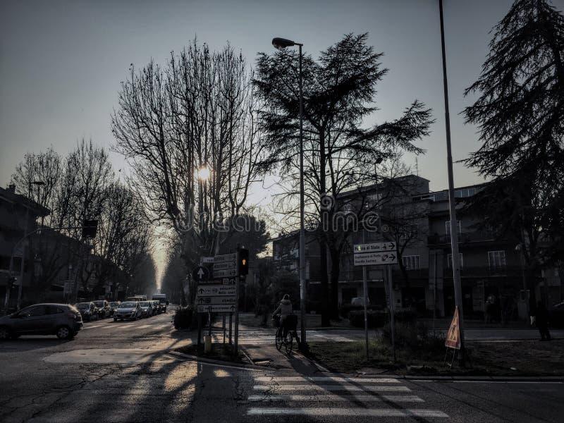 Inverno di Rimini fotografia stock