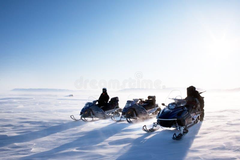 Inverno di Snowmobile fotografie stock libere da diritti