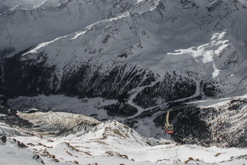 Inverno di Val Senales in Italia fotografia stock libera da diritti
