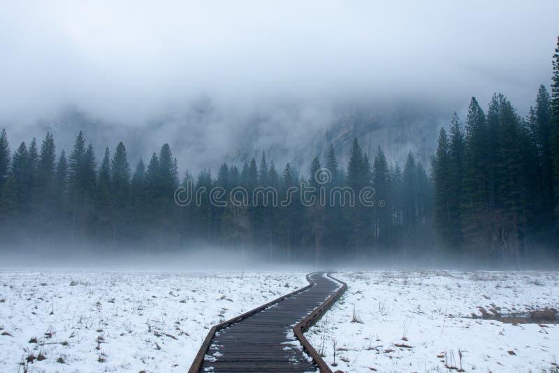 Inverno di Yosemite fotografia stock libera da diritti