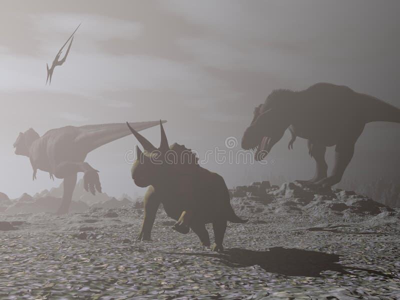 inverno do impacto - 3D rendem ilustração royalty free