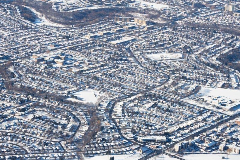 inverno do Midtown de Toronto fotografia de stock