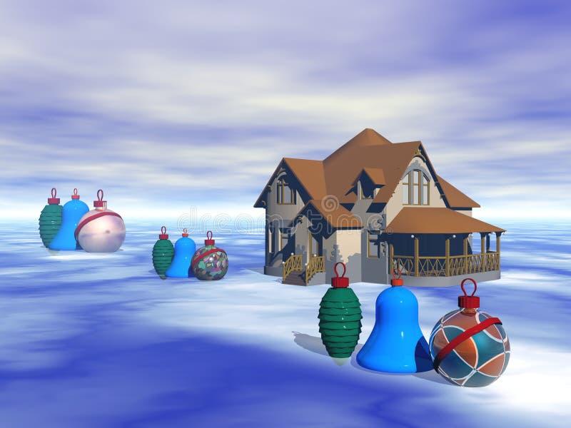 Inverno e Natale fotografia stock libera da diritti