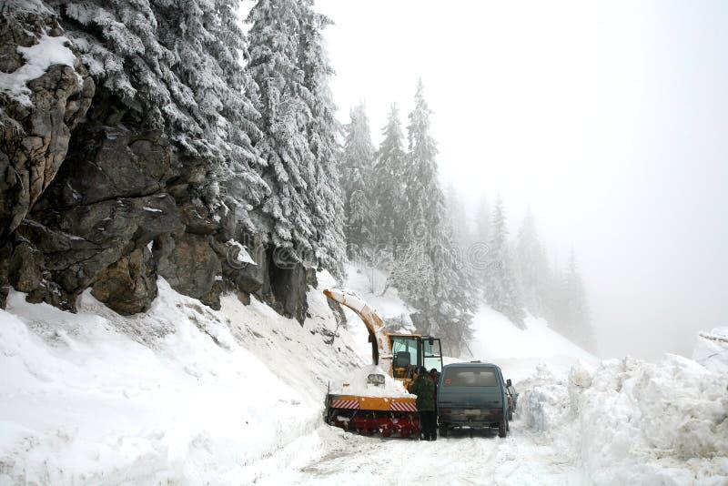 Inverno em Kosovo fotografia de stock