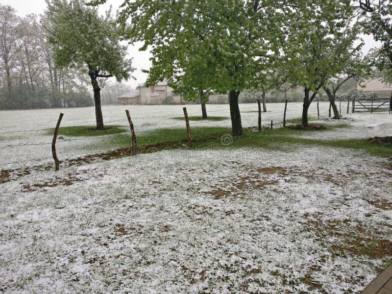 Inverno em Kosovo fotos de stock
