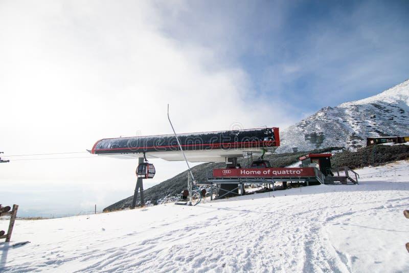 inverno em montanhas altas de Tatras fotografia de stock royalty free