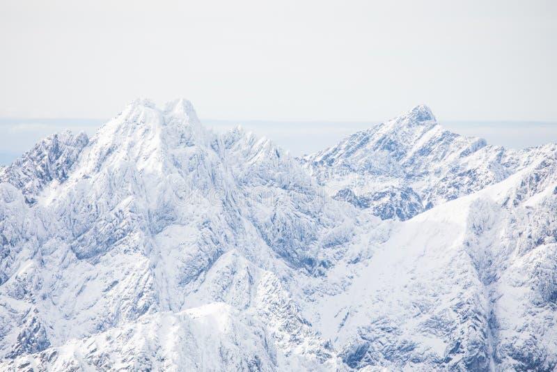 inverno em montanhas altas de Tatras Tatry alto slovakia imagem de stock royalty free