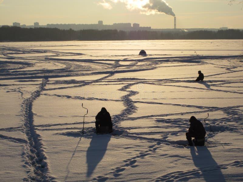 Inverno em Moscovo, neve severa em Rússia foto de stock
