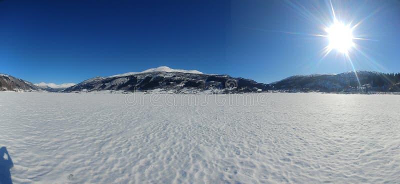 Inverno em Noruega foto de stock royalty free