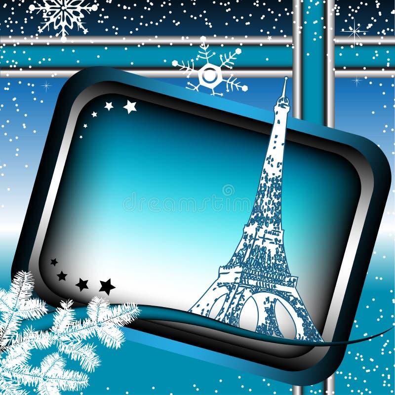 Inverno em Paris ilustração do vetor